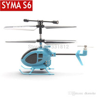 Wholesale Syma Rc Helicopter Free Shipping - Free shipping 2014 New Syma S6 3CH RC Mini helicopter with GYRO remote control toys the world smallest helicopter