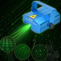 yol gösterici hareket toptan satış-150 MW Mini Kırmızı Yeşil Hareketli Parti Lazer led Sahne Işık lazer DJ parti işık Tripod Ile pırıltı 110-240 V disko DJ Parti için KTV ışıkları