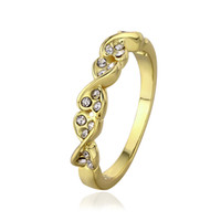 Wholesale Yellow Diamond Engagement Ring Wholesale - new 18k yellow gold ring with diamond ring gold wedding rings size 7,8 rings jewelry