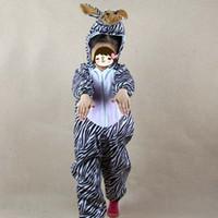 trajes de cosplay de anime meninos venda por atacado-Teenage Love Animal Ao Vivo Traje para Crianças Dos Desenhos Animados Tema Zebra Anime Cosplay Roupas Macacões Menino Meninas Halloween Traje Partido Carnaval