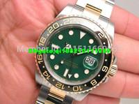 116713 moldura de cerâmica venda por atacado-Detalhes sobre wow GREEN DIAL CERAMIC BEZEL 116713 Sapphire 40mm homens automáticos Mens Watch Relógios
