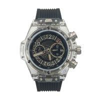 Wholesale Japanese Quartz Clock Movements - Clear & Black Style Clock Japanese VK Movement Watches with Six Needles AAA Quality Quartz Watch Wholesaler