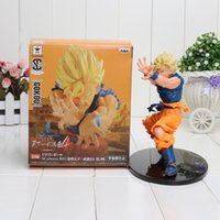 Wholesale Dragon Ball Z Goku Figure - Anime Dragon Ball Z Sun Goku Super Saiyan PVC Action Figure Collectible Model Toy 17CM