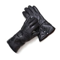 Wholesale Leather Elbow Fingerless Gloves - Wholesale-Luxury Gift Mens Sheepskin Leather Winter Long Elbow Outdoors Gloves