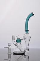 equipamentos duplos venda por atacado-Mais novo Dual Bubble Bongos De Vidro 2 Função Dab Rigs Tubos De Água De Vidro Tubo De Fumar Bongos de vidro de água Cachimbos de água com 14 mm conjunta masculina