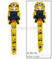 Wholesale Despicable 25 - Wholesale-new arrivel !!! 20pcs lot Despicable ME Minion cheering sticks blow ballons cartoon balloons inflatable balloon sticks 25*78cm