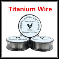 Wholesale Titanium Ecig Mod - Newest Titanium Wire Vapor Tech TA1 Heating Wire Coils 26g 28g 30g Gauge Vaporizer For Temp Control Mod RDA RBA DIY Ecig Atomizers