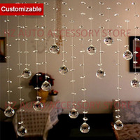 Wholesale partition free - Free shipping 10 strands lot, Crystal Beads Strand Curtain for home entranceway partition indoor decoration and room divider wedding centerp