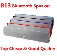 Wholesale double diaphragm - b13 B13 wireless bluetooth speakers hands-free with TF card slot double horn double diaphragms bluetooth for smartphone Q88 tablet DHL FREE