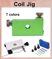 Wholesale cigarette makers for sale - Group buy RBA RDA Coil Jig DIY RDA Atomizer Coil Jig DIY Atomizer Heating Coil Machine E Cigarette accessories Coil Maker colors Tool box mod FJ063