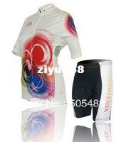 bunte radsport-trikots großhandel-2013! Freies shipping + PAD + Polyester + SPEED Frauen buntes Fahrradkleid Radfahrenabnutzung / Fahrradabnutzungs-Kurzschlusshülse Jersey + Kurzschlüsse XS-4XL