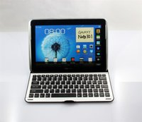 Wholesale Galaxy Note Keyboard Cover - Aluminum Wireless Bluetooth Keyboard Stand Cover Case Dock For Samsung Galaxy Note 10.1 N8000 N8010 N8013