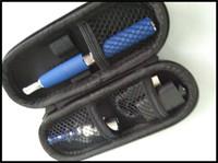Wholesale Wholesale Bubble Pens - glass bubble vaporizer pen glass dome e cigarette wax dry herb smoking e pen skillet 2 in 1 complete set with charger case