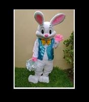 mascotte de costume de lapin de pâques gratuit achat en gros de-PROFESSIONAL EASTER BUNNY MASCOT COSTUME Bugs Lapin Lièvre Adulte Déguisement Costume De Bande Dessinée Livraison Gratuite
