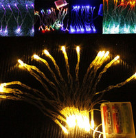 ingrosso blue fairy lights battery-Nuovo 3xAA batteria 2m 20 LED String mini luce leggiadramente potere pile / freddo / caldo / blu / rosso / giallo / verde / rosa / Purply / multi-colore bianco puro