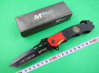 cuchillos mtech al por mayor-Cuchillo plegable de bolsillo MTECH, 440 de acero 56HRC Cuchillo de supervivencia para exteriores