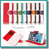 Wholesale Hanging Wallets - New design Squirrel leather phone case with button and easy to hang for iphone 6s 8 colors for choose with DHL free