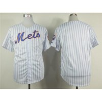 Wholesale Mens Stripped Shirts - Cheap Mets Baseball Jerseys 2015 New Style White Blue Strip Cool Base Jerseys Top Quality Mens Sports Jerseys Comfortable Sport Shirts