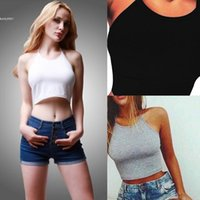 2017 neue Designer Damen Tops Weste Casual Lace Up Halter Sleeveless Solide Kurze Sexy Mode Crop Top