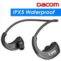 dacom kulaklıklar toptan satış-DACOM Zırh IPX5 Su Geçirmez Bluetooth Kulaklıklar Kablosuz Kulaklık Mic ile Spor Koşu Kulaklık Kulak-kanca