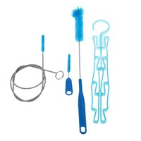 Wholesale Hose Cleaners - Hot Multifunction Water Bags Brushes Set Water Bladder Bag Cleaning Brushes Tube Hose Sucker Brushes Travel Kits Y0917