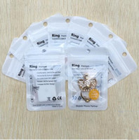 Wholesale Jewelry Ring Stand Clear - 7.5*12cm Zipper Retail Packaging Bags Boxes Packing Clear White Pearl Jewelry Plastic Poly OPP PVC for phone ring stand