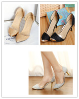 Wholesale Wholesale Lady Stiletto Shoes - High Heels Shoes For Womens Ladies Fashion Glitter Pointed Toe Stiletto Pumps Court Shoes Gift Free Shipping