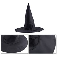 Black Oxford Burst Seal Hood Chapéu mágico de Harry Potter Chapéu da bruxa do Dia das Bruxas All Black Wizards Hats 23g