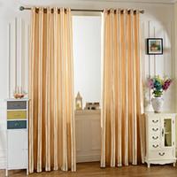 Wholesale Grommet Blackout Curtains - Window Curtain Original Fashion Design 100X250CM Pure Color Grommet Ring Top Blackout Window Curtain For Living Room Bedroom Hotel Cafe +NB