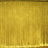 Wholesale Net Window Curtain - 3*3M LED Window Curtain Icicle Lights 306 LED 9.8ft x 9.8ft 8 Modes String Fairy Light String Light for Christmas Halloween Wedding
