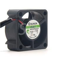 ventilador de 12 v 2 hilos al por mayor-SUNON 4020 GM1204PKVX-8A 12V 2.4W 2Wire Servidor Ventilador de refrigeración