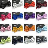 gravatas de lantejoulas para homens venda por atacado-Bling Bling Lantejoulas Bow Tie Nova Moda Homens E Mulheres Bowties Terno Acessórios Para Multi Color 2 9 mc C R