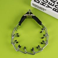 Wholesale Collar Chrome - New Training Dog Chain Adjustment Large Dog P Chain Stimulate Big Dog Collar Chrome Metal Train Stimulation Pet Necklace Collars