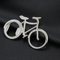 Wholesale Beer Cap Keychain - Bicycle Bike Bottle Opener Wine Beer Cap Lifter Key Ring Keychain for Cyclist Gift Silver Support Free FBA Shipping D330S