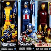 "Wholesale Iron Man Pvc - 12"" 30CM New The Avengers Toys Figures SpiderMan Iron Man Captain America Hulk Thor action Figures Children Toys Dolls Kids gifts Z1D7E1"