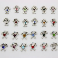 Wholesale Memory Boy - Free shopping 120 pcs lot birthstone boys girls charm floating charms for glass living memory lockets