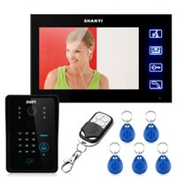 "Wholesale Video Intercom Keypad Systems - 7"" LCD Video Door Phone Doorbell Intercom Touch Key System Video Camera With Code Keypad Lock Remote"