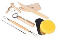 Wholesale handmade sculptures - Clay Tools Set Pottery Sculpture Tools Handmade Clay Sculpture DIY 8 PCS set