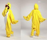 Wholesale Adult Duck Pajamas - Wholesale-Hot Unisex Adult Duck Pajamas Animal Onesie Cosplay Costume Pyjamas Sleepsuit Unisex Adult One Piece Free Shipping