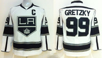Wholesale Kids Icing Kit - Youth LA Kings #99 Wayne Gretzky White Ice Hockey Jerseys 2014 New Winter Kids Hockey Uniform kits Top Quality Embroidered Athletic Apparel