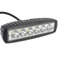 luz de inundación 18w al por mayor-Luz de trabajo LED 6 pulgadas 18W 6LED cree luz LED Spot Barra de haz de inundación UTV SUV ATV 4WD Barco camión Tractor