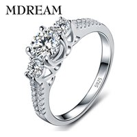 Wholesale marketing sets - Wholesale- silver plated ring with AAA Zircon for women glittering noble Gorgeous wedding rings jewelry wholesale market LSR011
