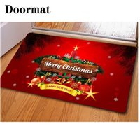 Wholesale 3d floor mats - 40*60cm Christmas Floor Mats 3D Printed Soft Carpet For Kitchen Bath Water Absorption Doormat Factory Direct Sales 7 5ky B