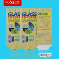 protector de pantalla de gafas templadas s5 al por mayor-1000 unids Tempered Glass Film Protector de pantalla para iPhone 6 6S 5 5S 5C 4 4S Galaxy S5 S4 Note 5 4 3 Blanco Paquete de venta