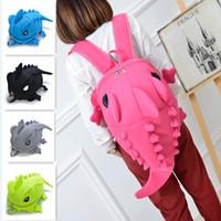 kız okul sırt çantaları satılık toptan satış-Sıcak Satış Moda Rahat Canavar Styling Dinozor Naylon Net İplik Sırt Çantası Çift Omuz Okul Çantası Erkek ve Kız Hediyeler Için 5 renkler