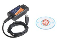Wholesale Car Scanners Sale - 2014 hot-sales OBD OBDII scanner ELM 327 car diagnostic interface scan tool ELM327 USB diagnostic cable free shipping