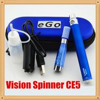 ego spinner elektronische zigaretten-sets großhandel-Elektronische Zigaretten-Zerstäuber-Stift-e-Zigaretten-Installationssatz-Spinner-Ego-c-Drehungs-Batterie mit Zerhacker-Zigarette des Zerhackers CE5 Zerstörer-ego ce5 DHL geben frei