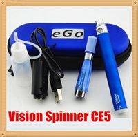 ingrosso kit elettronici per sigarette elettroniche-Sigaretta elettronica Vaporizzatore penna e kit di sigarette Vision Spinner Ego c Batteria Twist con CE5 Atomizzatore ego ce5 kit sigaretta ego DHL libero
