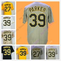 Wholesale camo baseball - Kent Tekulve Bill Mazeroski Dave Parker Jersey Vintage Turn Back Home Away Yellow Black White Pinstripe Camo