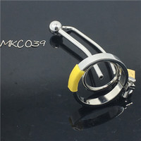Wholesale male chastity device cb - male stainless steel CB chastity device with urethral catheterization penis penis lock Alternative irritating M10 sex toys
